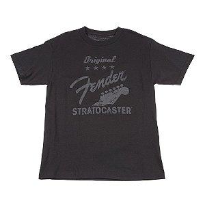 Camiseta Fender Original Strat M - Cinza Chumbo