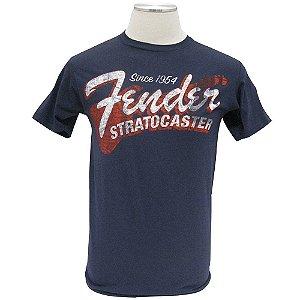 Camiseta Fender Since 1954 Strat M - Azul