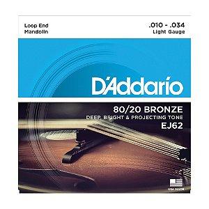 Encordoamento Bandolin D'Addario 0,10 EJ 62