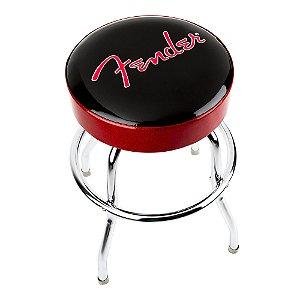 "Banco Fender Barstool 24"" Red n Black"