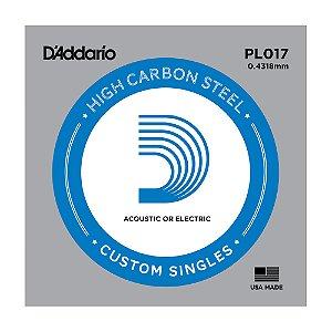 Corda Avulsa Guitarra D'Addario 0,17 Plain Steel