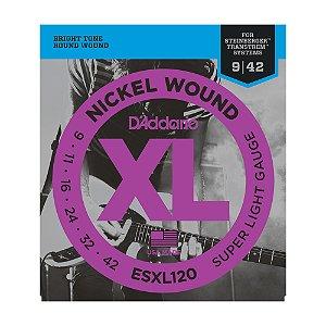 Encordoamento Guitarra D'Addario 0,09 ESXL 120