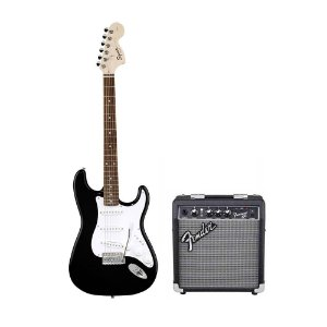 Kit Squier Affinity + Fender Frontman 10 + Acessórios