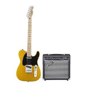 Kit Squier Affinity + Fender Frontman 15 + Acessórios