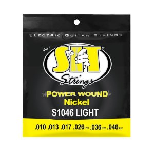 Encordoamento Guitarra 010-046 Power Wound Nickel Extra Light SIT Strings