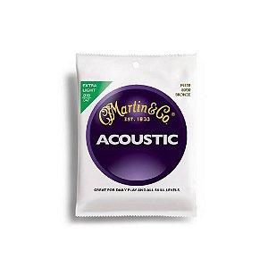 Encordoamento para violão Martin Acoustic Bronze Extra Light Aço