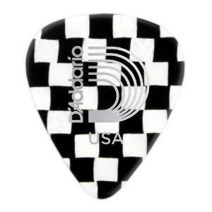 Palheta Planet Waves Checkerboard Classic Celluloid 1.25mm (Pack com 10)