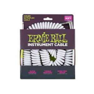 Cabo Ernie Ball Coil Cable P10 9 Metros White
