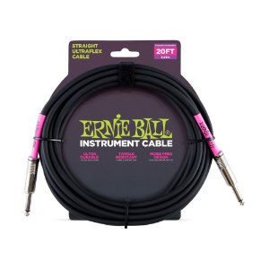 Cabo Ernie Ball Instrument Cable P10S-P10S 6 Metros Black