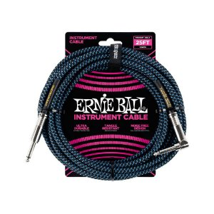 Cabo Ernie Ball Braided Cable P10 7,5 Metros Blue