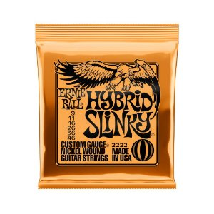 Encordoamento de Guitarra Ernie Ball 009. Hybrid Slinky