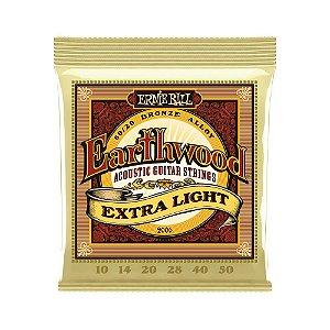 Encordoamento de Violão Ernie Ball 010. Earthwood 8020 Extra Light