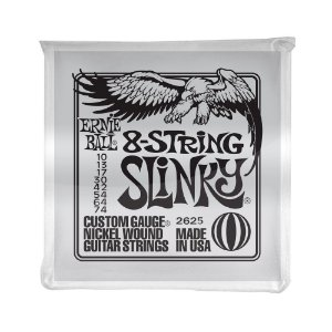 Encordoamento de Guitarra 8 Cordas Ernie Ball 010. 8 Strings Slinky