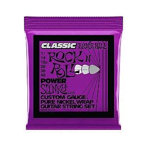 Encordoamento de Guitarra Ernie Ball 011. Classic Power Slinky