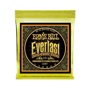 Encordoamento de Violão Ernie Ball 011. Everlast 8020 Light