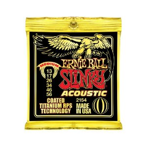 Encordoamento de Violão Ernie Ball 013. Coated Slinky Ac Medium