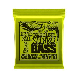 Encordoamento de Contrabaixo 4 Cordas Ernie Ball 050. Regular Slinky