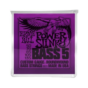 Encordoamento de Contrabaixo 5 Cordas Ernie Ball 050. 5 Strings Power Slinky