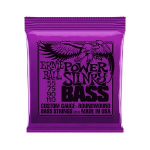 Encordoamento de Contrabaixo 4 Cordas Ernie Ball 055. Power Slinky
