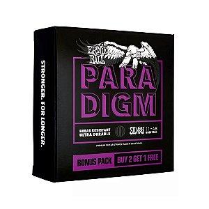 Encordoamento Guitarra Ernie Ball 011. (Pack 3) Paradigm Power Slinky