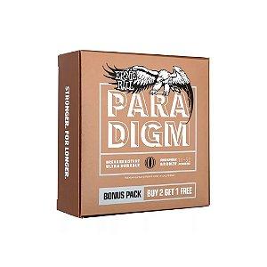 Encordoamento Violão Ernie Ball 011. (Pack 3) Paradigm Phosphor Bronze Light