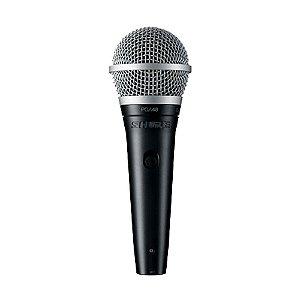Microfone Mão Dinâmico Cardióide Shure PGA 48 LC