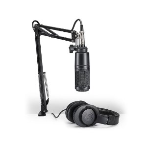 Kit Streaming e Podcasting Audio Technica AT 2020 PK