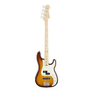 Contrabaixo Fender Am Elite Precision Bass Ash Maple Tobacco Sunburst