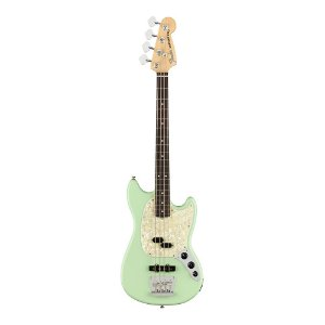 Contrabaixo Fender Am Performer Mustang Bass Rw Satin Surf Green
