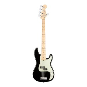 Contrabaixo Fender Am Professional Precision Bass V Maple Black
