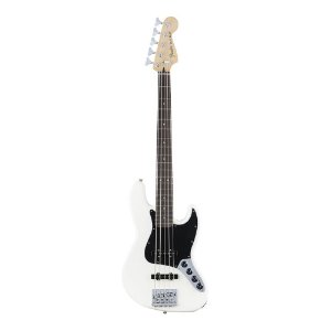 Contrabaixo Fender Deluxe Active Jazz Bass V Pau Ferro Olympic White