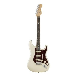 Guitarra Fender American Elite Stratocaster Ebony Olympic Pearl