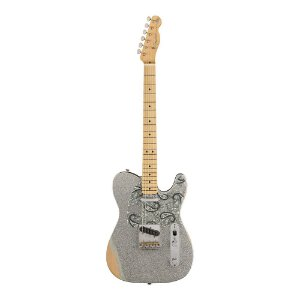 Guitarra Fender Sig Series Brad Paisley Road Worn Telecaster Silver Sparkle