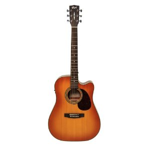 Violão Cort Dreadnought Aço MR 600F Light Vintage Burst Satin