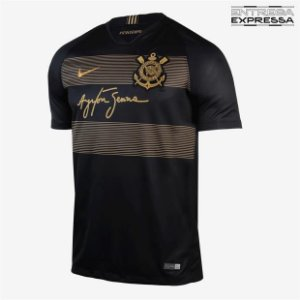 Camisa Santos III 2018 s n° Torcedor Umbro Masculina Dourado - Almir ... d1bf021621005