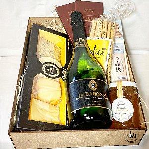 Box gourmet espumante e harmonizações
