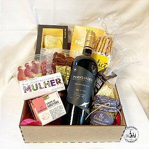 Box com vinho especial DIA DA MULHER