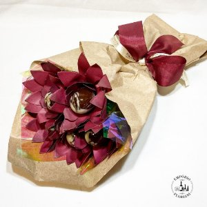 Buquê de rosas de chocolate