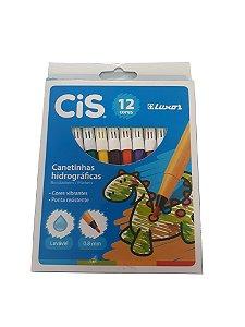 Caneta Hidrográfica 12 Cores - Cis