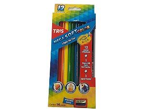 Lápis de Cor Mega Soft Color 12 Cores – Tris