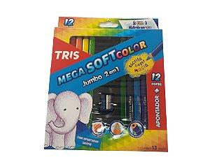 Lápis de Cor Mega Soft Color Jumbo 2 em 1- TRIS