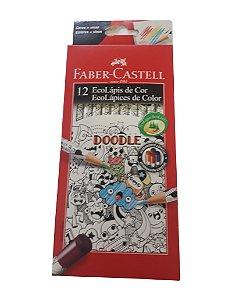 Lápis De Cor Redondo Doodle 12 Cores Faber-castell