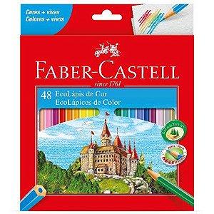 Lápis de Cor 48 cores sextavado 120148G Faber Castell CX 1 UN