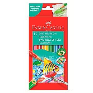 EcoLápis de Cor Aquarelável Faber-Castell - Estojo com 12 Cores