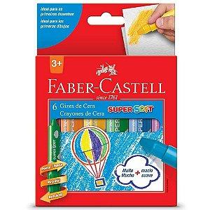 Giz de Cera Retrátil Super Soft 6 cores - Faber-Castell
