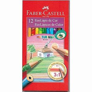Ecolápis De Cor Faber Castell 12 Cores ''misturinha''