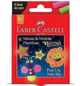 MASSA DE MODELAR NEON FABER-CASTELL - 6 CORES