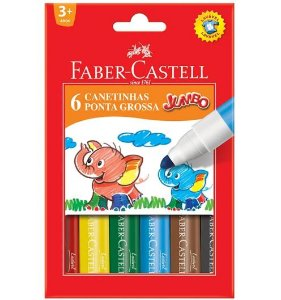 CANETINHA JUMBO FABER-CASTELL - 6 CORES