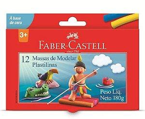 MASSA PARA MODELAR 12 CORES FABER CASTELL
