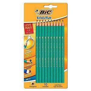 Lápis Hb Nº 2 Bic Evolution Hexagonal Com 10 Un